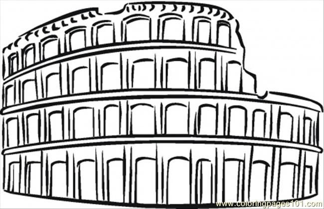 Colosseum Coloring Pages Free Printable Coloring Page Colosseum