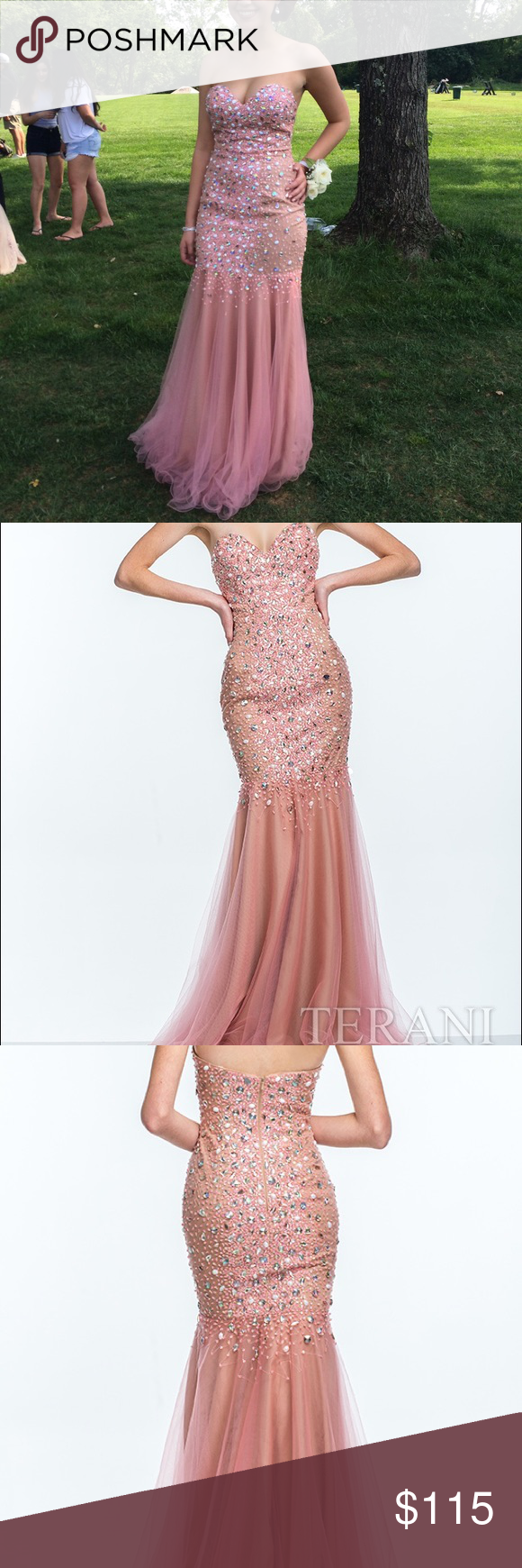 Terani prom gown only worn once perfect condition sweetheart