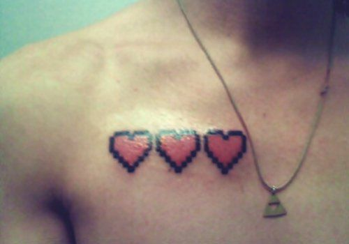 game, heart, tattoo, zelda