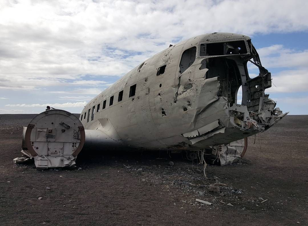 Walking along a sandy gravel road towards the sea we finally found the plane wreckage   #wheniniceland #visiticeland #iceland #dc3planewreck #traveler #wanderlust #nomad #explorer #annietravels #igers #igtraveler #instalove #annie #createyouradventure #spottly #travelgram #instatravel #cntravellerme #tlpicks #travelawesome #travelingpost #travelingourplanet #roadtrip by annietravelstoeat
