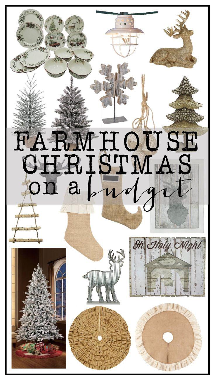 Beautiful Farmhouse Christmas Decor on a Budget. Adorable decor ...