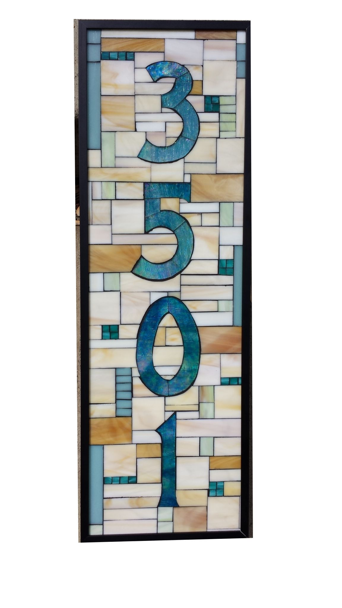 Beautiful Custom House Number Stained Glass Mosaic By Sequential Glass Art Mosaic Awesome Design