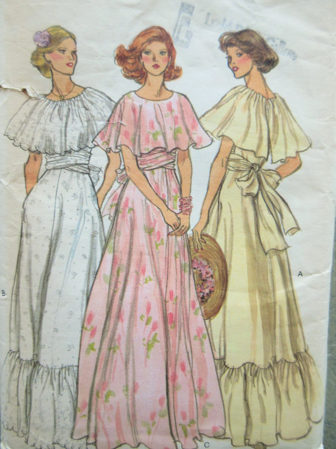 Vintage Vogue 9731 Sewing Pattern, 1970s Dress Pattern