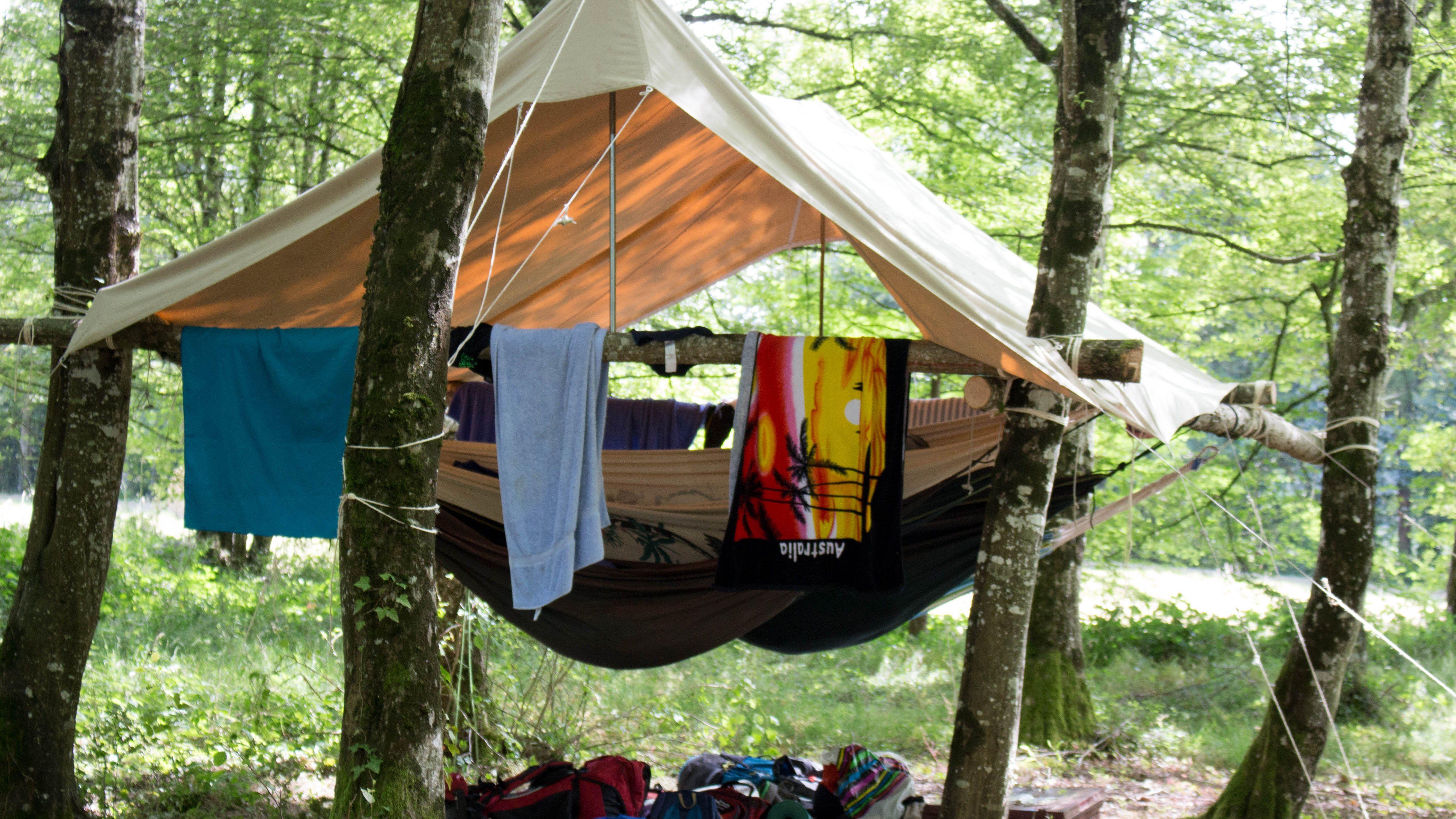 Le hamac en chambre air latoilescoute tentes Hamac chambre