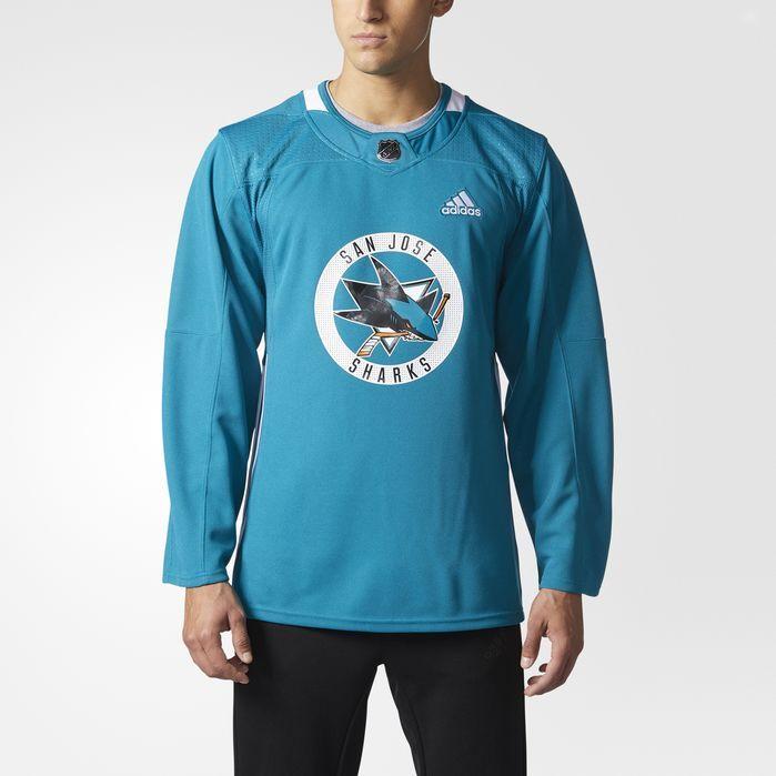 best website 7f538 792b7 adidas Sharks Authentic Practice Jersey - Mens Hockey ...