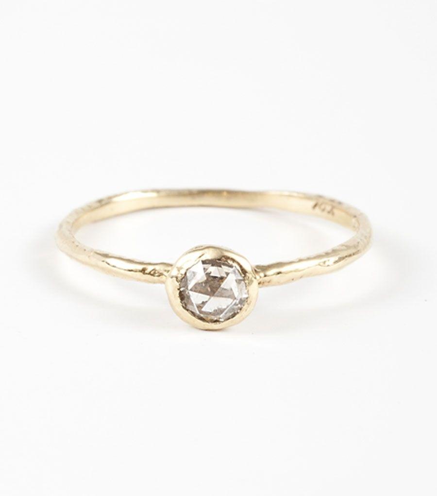 catbird - rosecut solitaire, white diamond