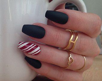 Christmas Coffin Nails Google Search Ballerina Nails Holiday Nails Candy Cane Nails