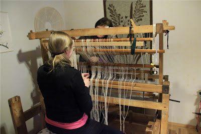 Loimen laittaminen kangaspuihin 2/4 niisiminen
