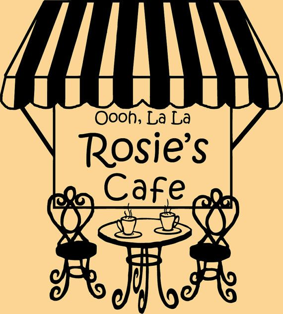 French cafe wall decal personalized for your by Decals4MyWalls ...