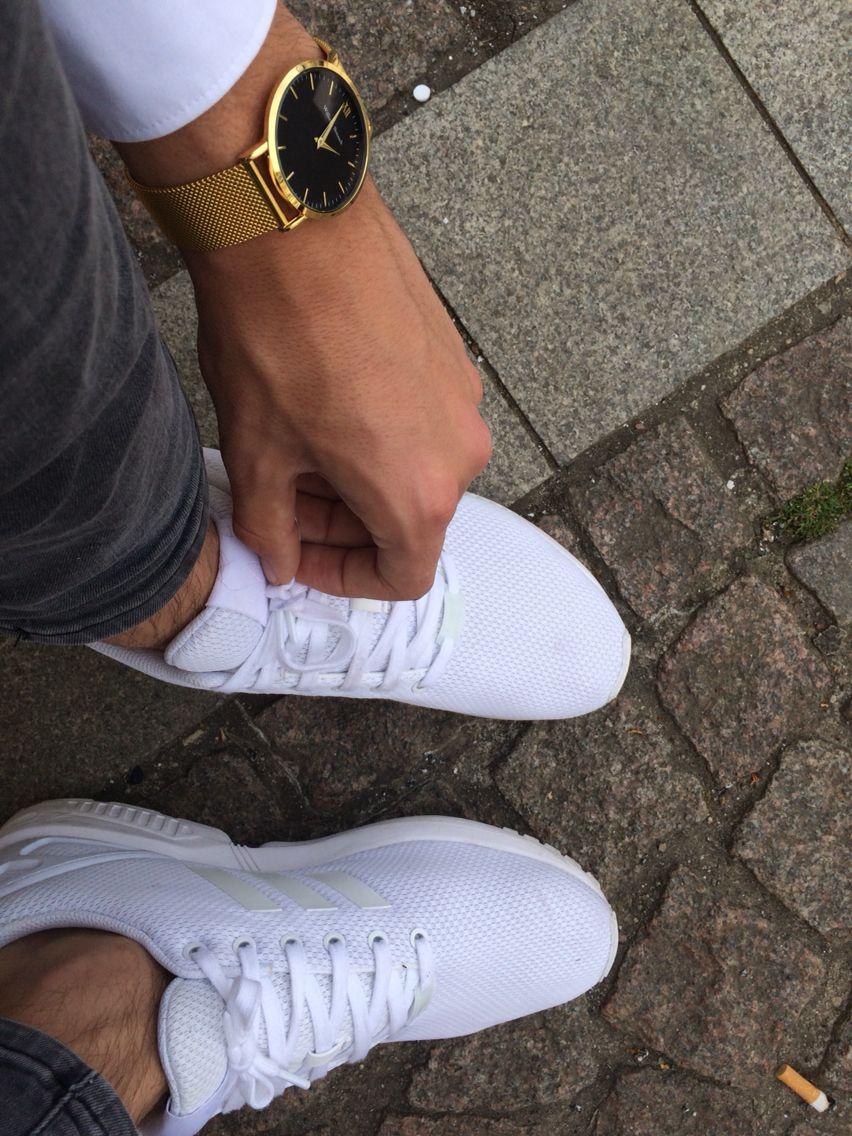 59b78fe62058e William Strouch Gold Black + Adidas Flux all white •
