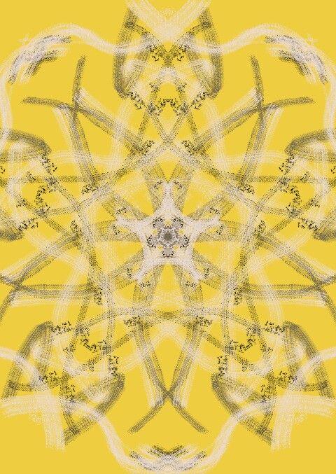 Caleidoscopio amarillo