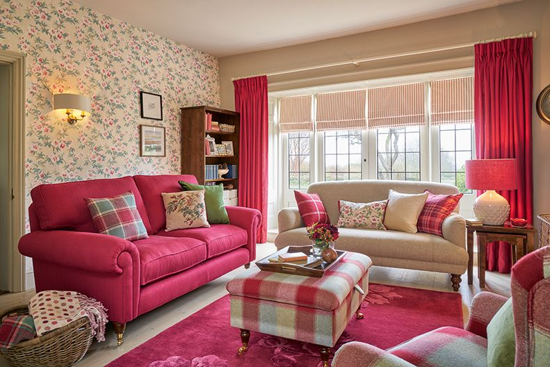 50 Shades Of Cranberry Laura Ashley Living Room Red Shabby Chic Living Room Cheap Living Room Sets