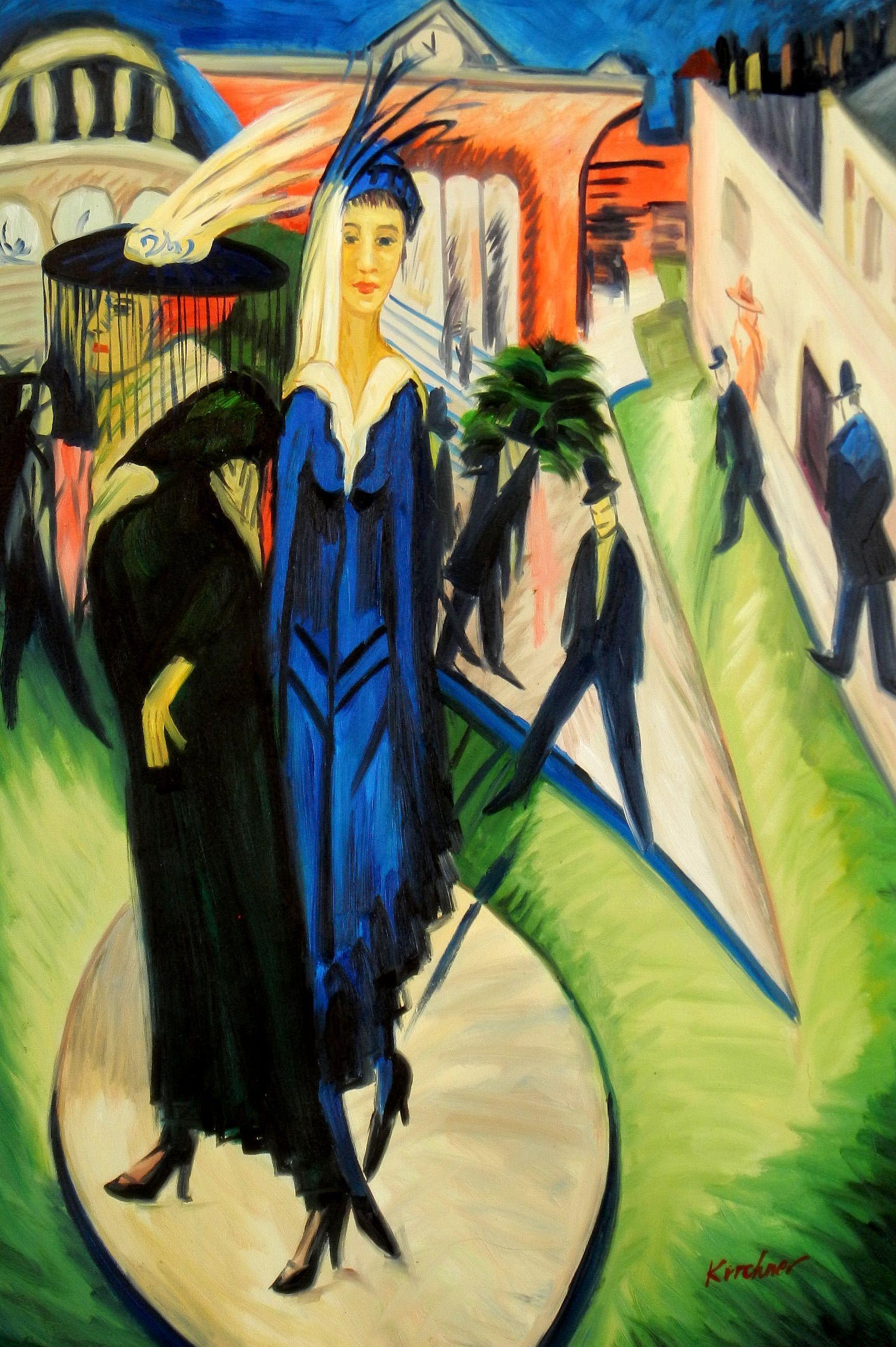 Ernst Ludwig Kirchner - Potsdamer Platz d93712 60x90cm ...