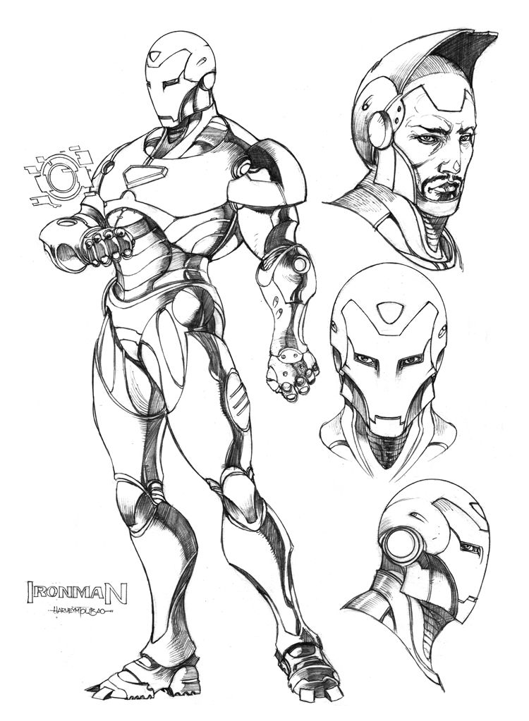 Ironman By Harveytsketchbook Ironman Sketch Coloring Pages Avengers Wallpaper