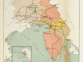 Dalmazia Italiana Cartina.Cartina Ferrovie Concesse E Tramvie Estraurbane Della Venezia Giulia 1936 Storia Storico Venezia