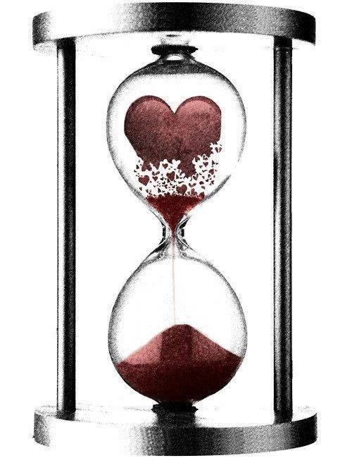 Patience Dessins Coeur Brise Sablier Sabliers