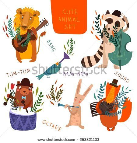 30+ Animal Playing An Instrument Clipart