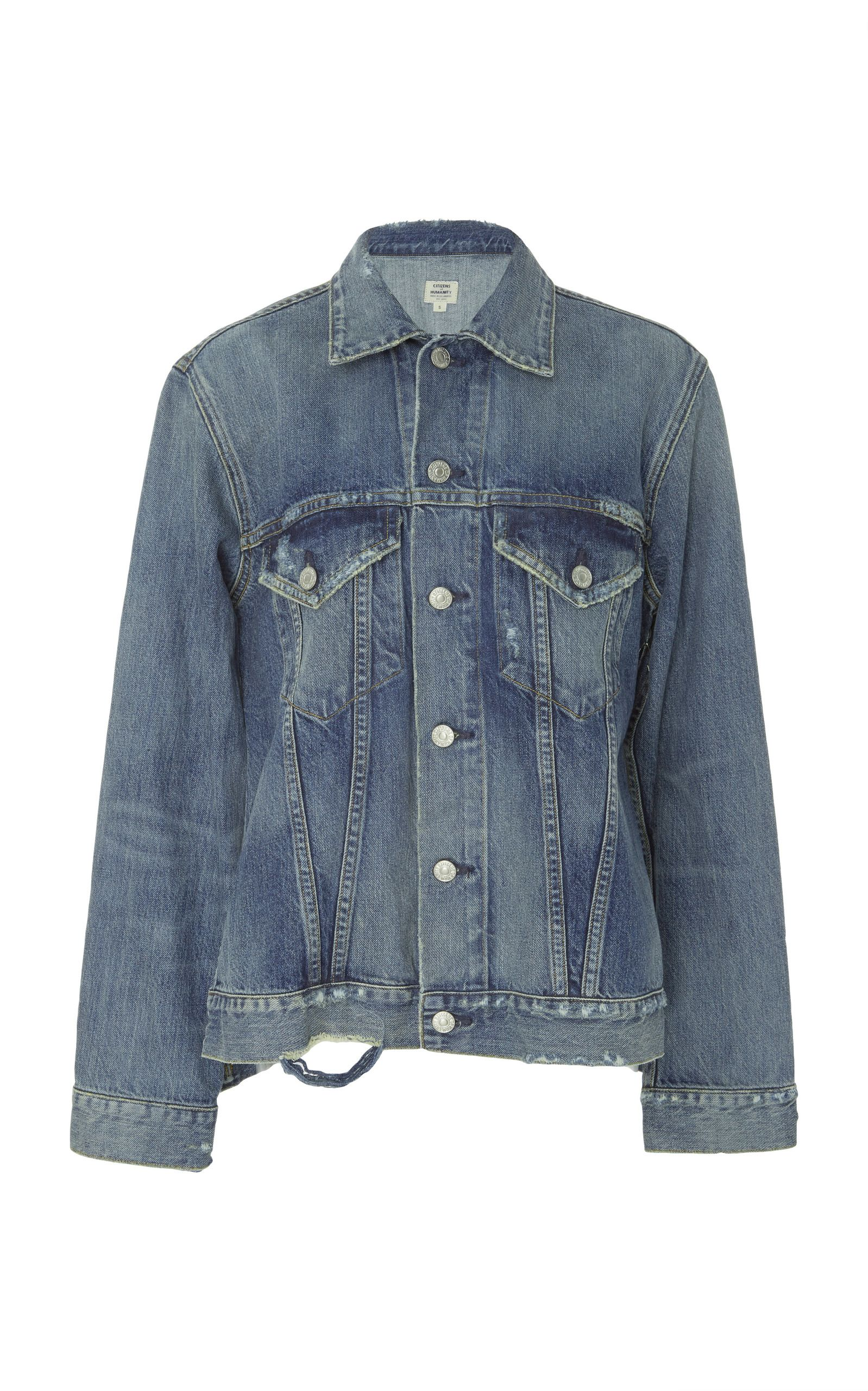 Sidesplit denim jacket by citizens of humanity now available on
