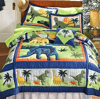 dinosaurs bed quilt bedding set fulldouble size
