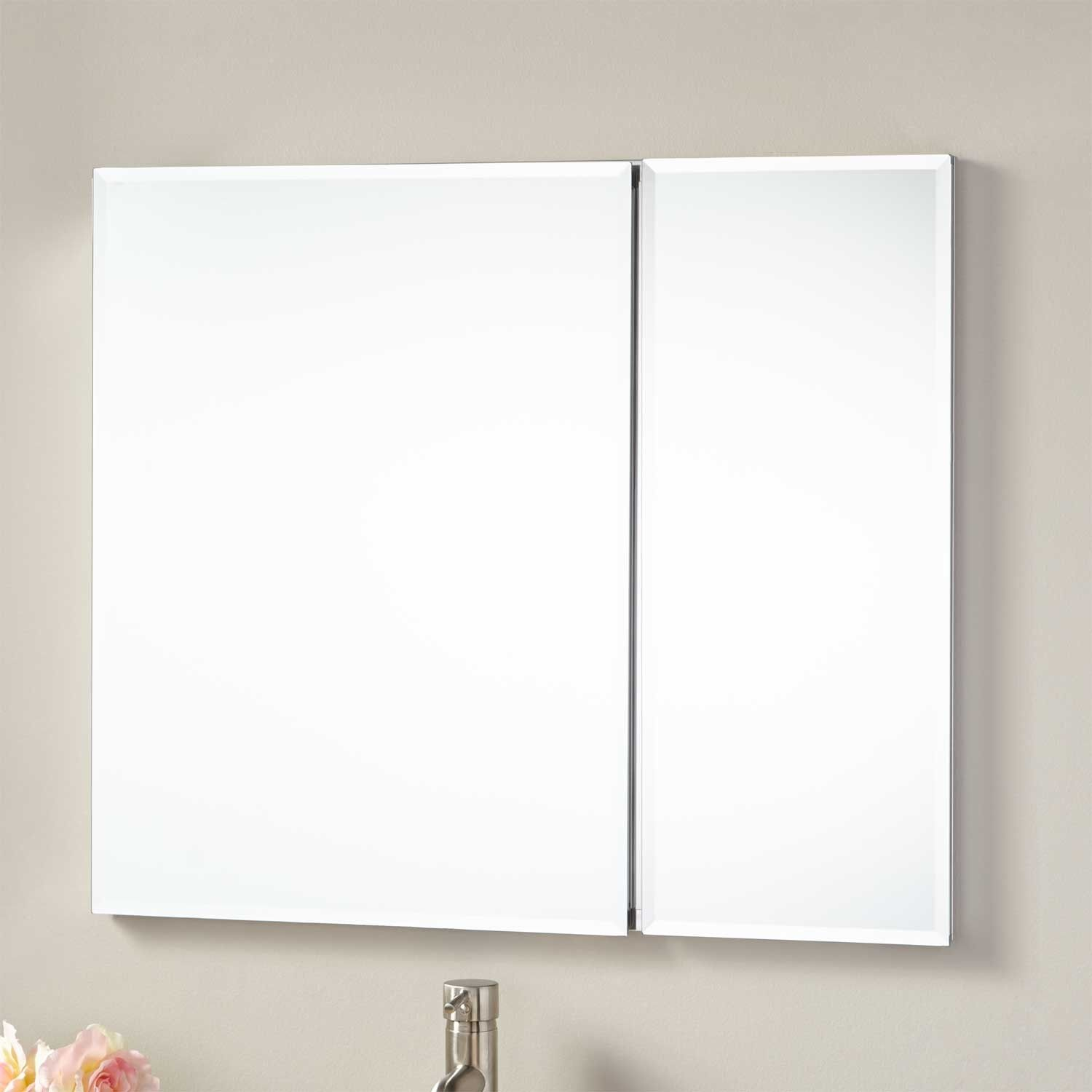 30 Cordain Recessed Mount Medicine Cabinet With Mirror Bathroom