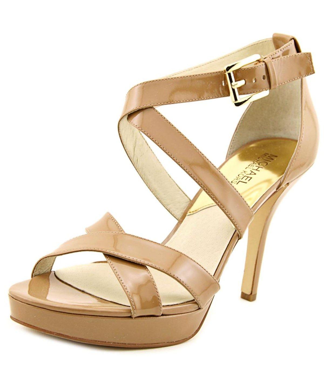 c2cbc4ce43b MICHAEL MICHAEL KORS MICHAEL MICHAEL KORS EVIE PLATFORM WOMEN PATENT  LEATHER TAN PLATFORM HEEL .  michaelmichaelkors  shoes  pumps   high heels