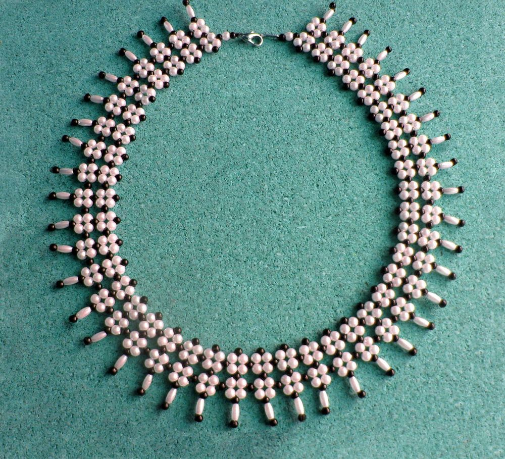 Free pattern for beaded necklace Greta | Beads Magic  #Seed #Bead #Tutorials