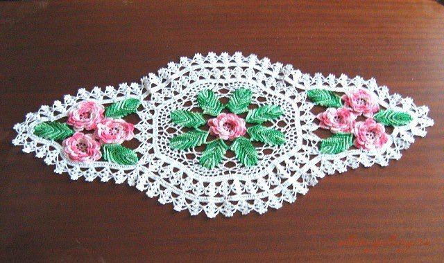 Todo para crear centros de mesa en crochet crochet for Centro de mesa a crochet
