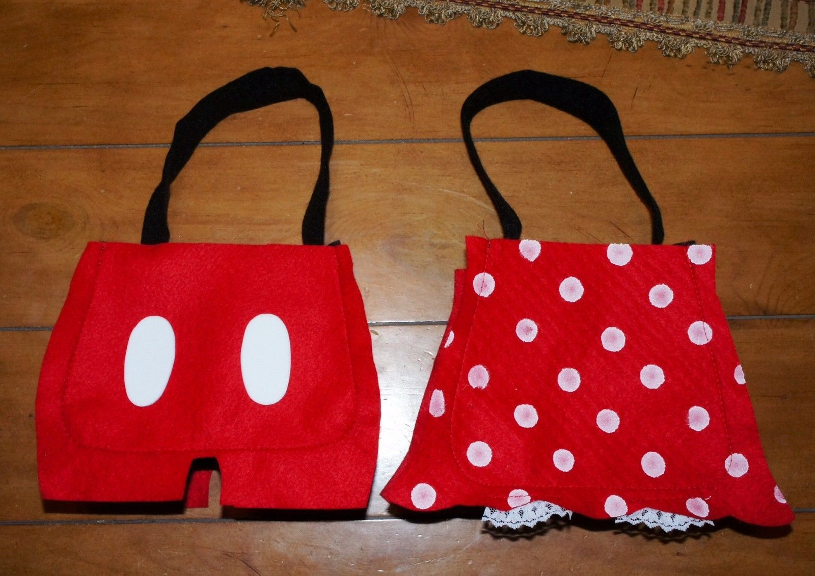 Mickey  Minnie Mouse handmade party bags favors red polka dots lot picclick.com