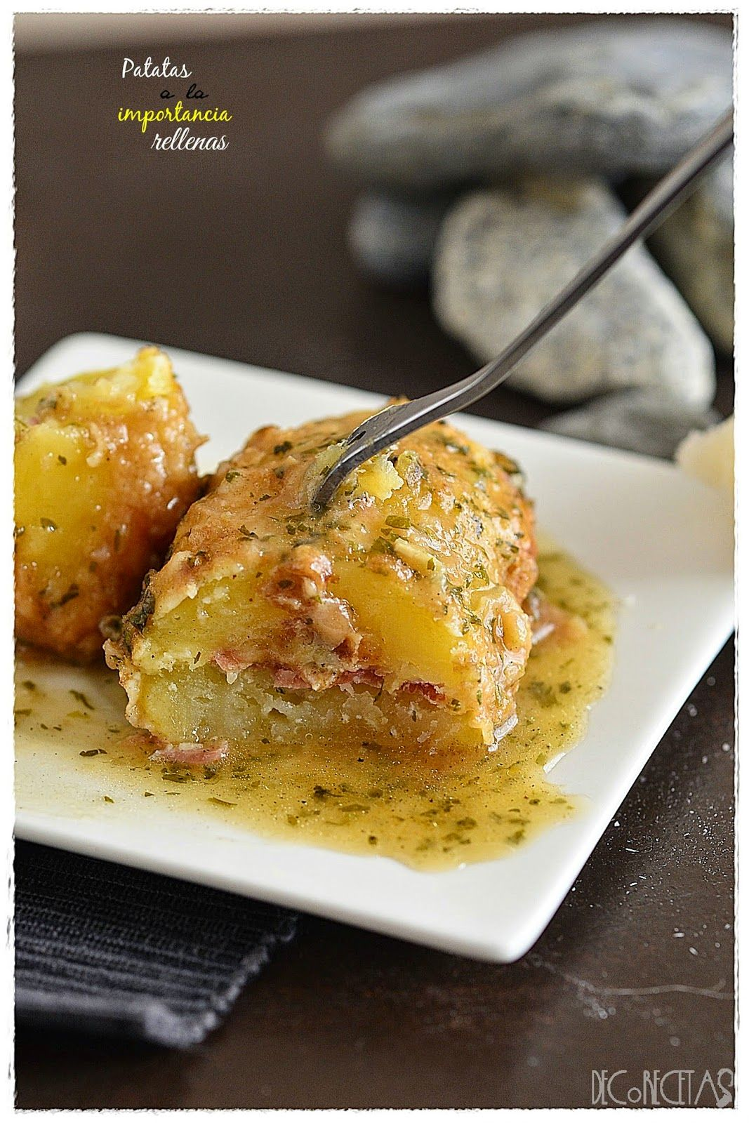 DECORECETAS: Patatas a la importancia rellenas