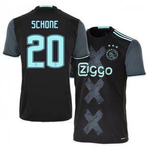 best authentic 2b436 8358f 16-17 Ajax Cheap Away #20 Schone Replica Football Shirt ...