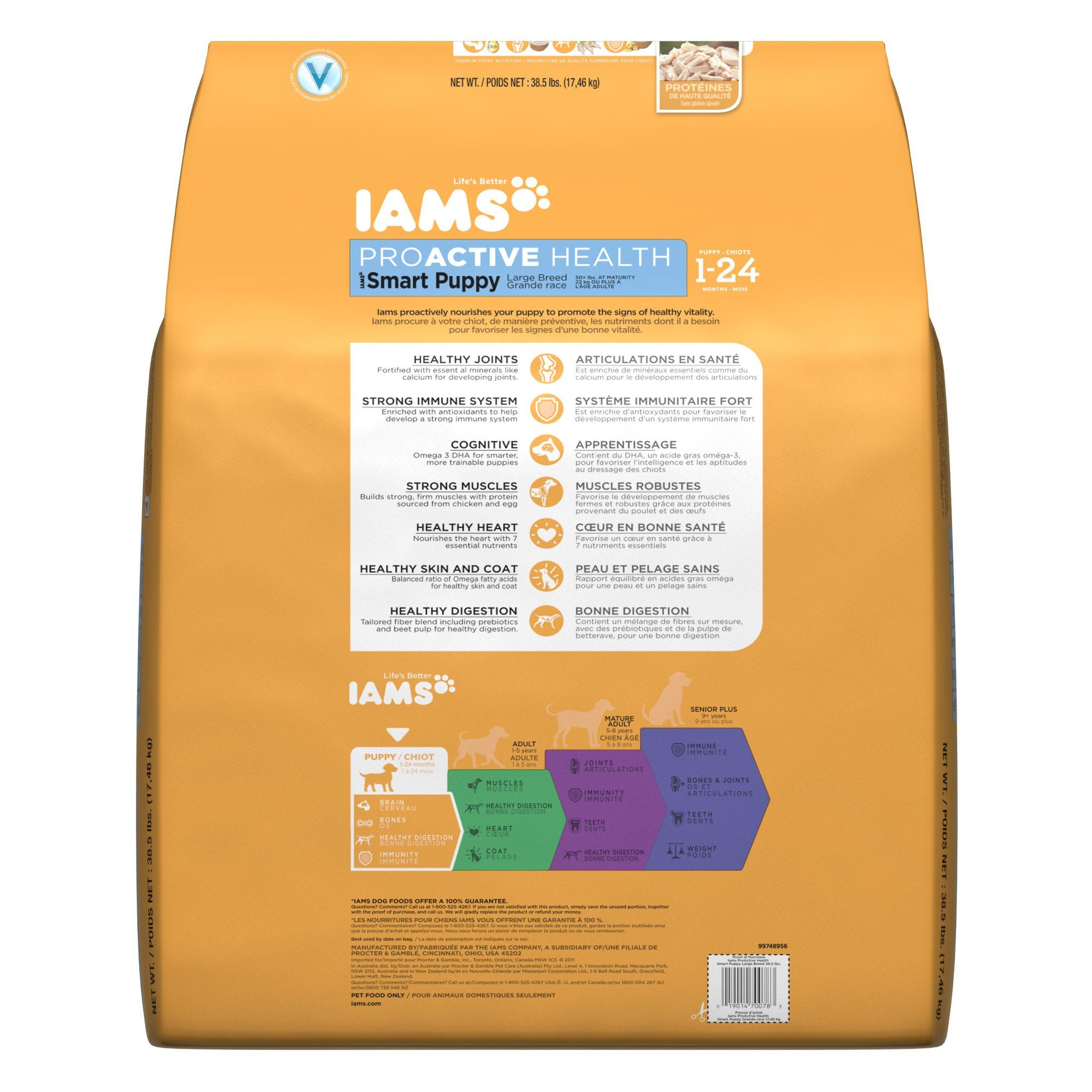 IAMS PROACTIVE HEALTH Smart Large Breed Puppy Dry Puppy ...