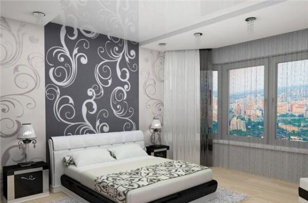 Дизайн обоев в комнату