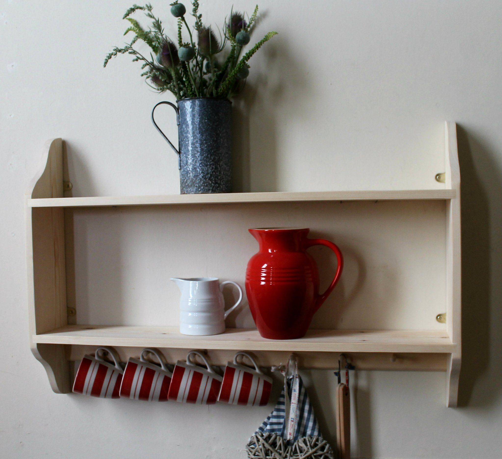 ADORA 2 with Shakers pegs Shelves, Wall shelving units