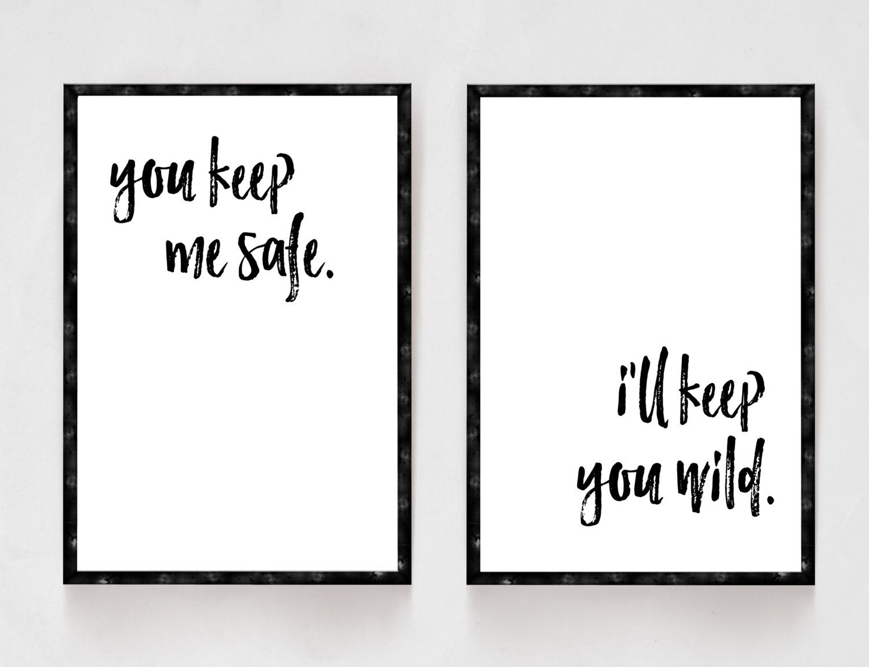 You Keep Me Safe I Ll Keep You Wild Bedroom Decor Black