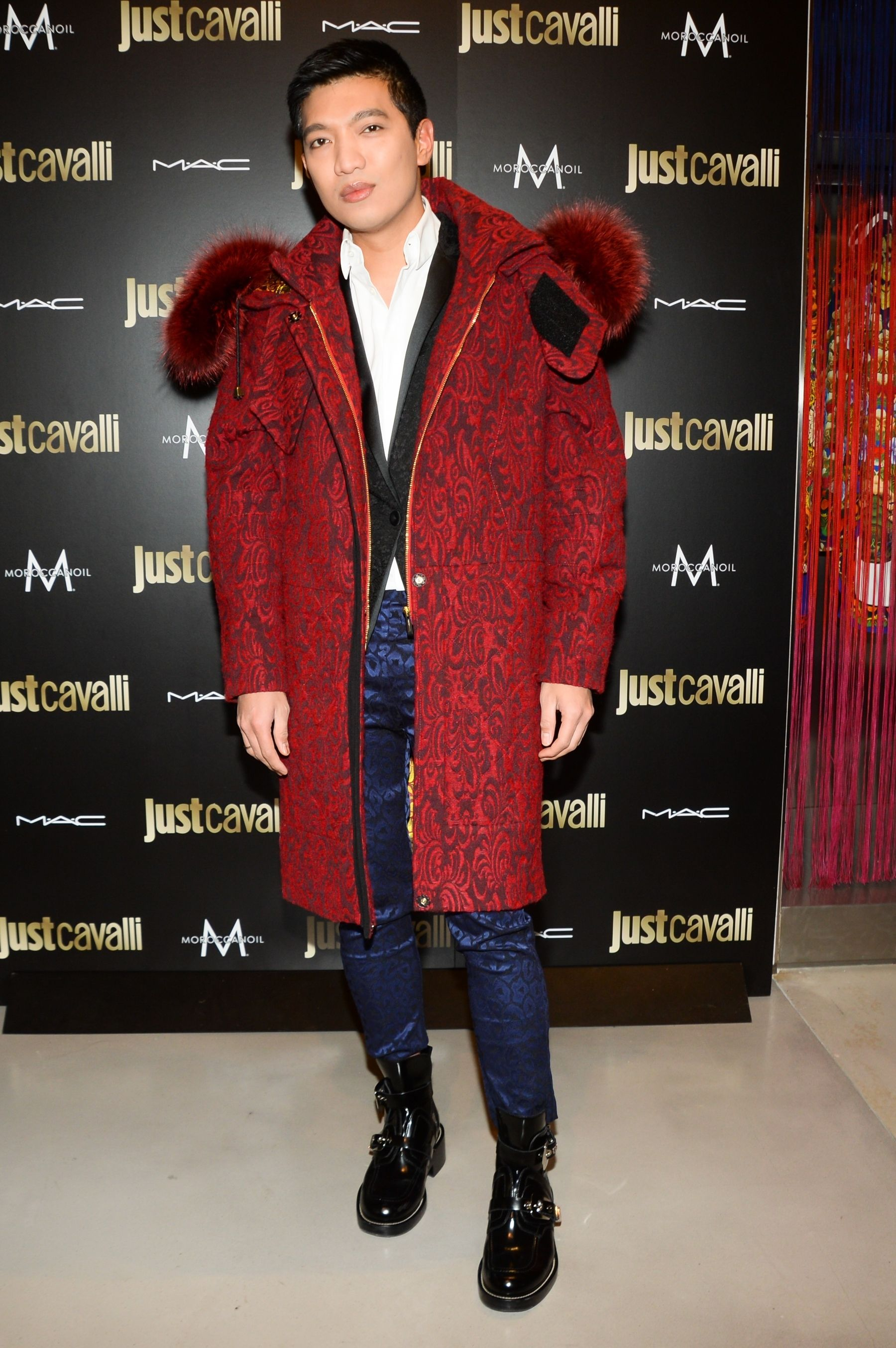 339170fcbe7f Bryan Boy from bryanboy.com in  JustCavalli at the Just Cavalli Boutique  Opening in NYC