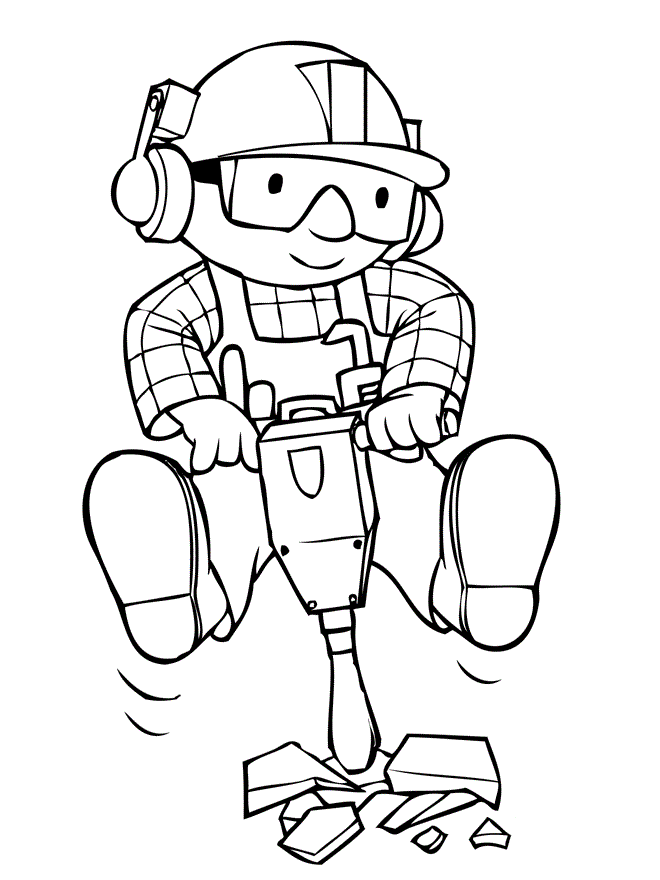 Bob The Builder Being Mengecor Road Bob The Builder Coloring Pages