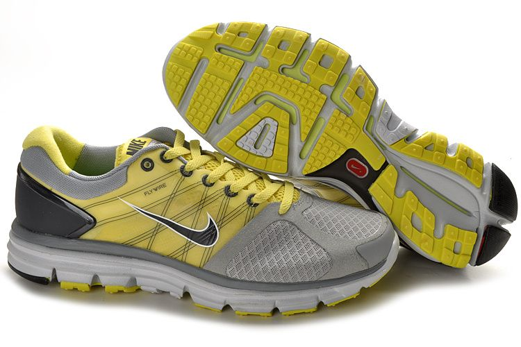 Nike Gray Yellow Lunarglide 2 Shoes New