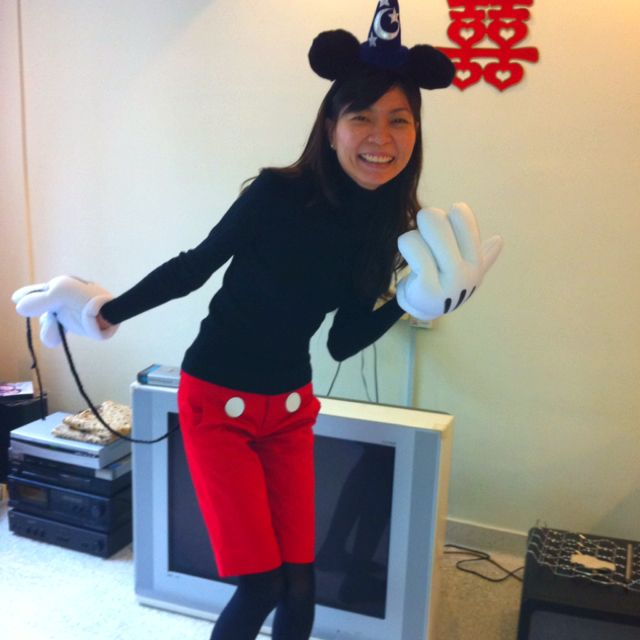 cute mickey costume.