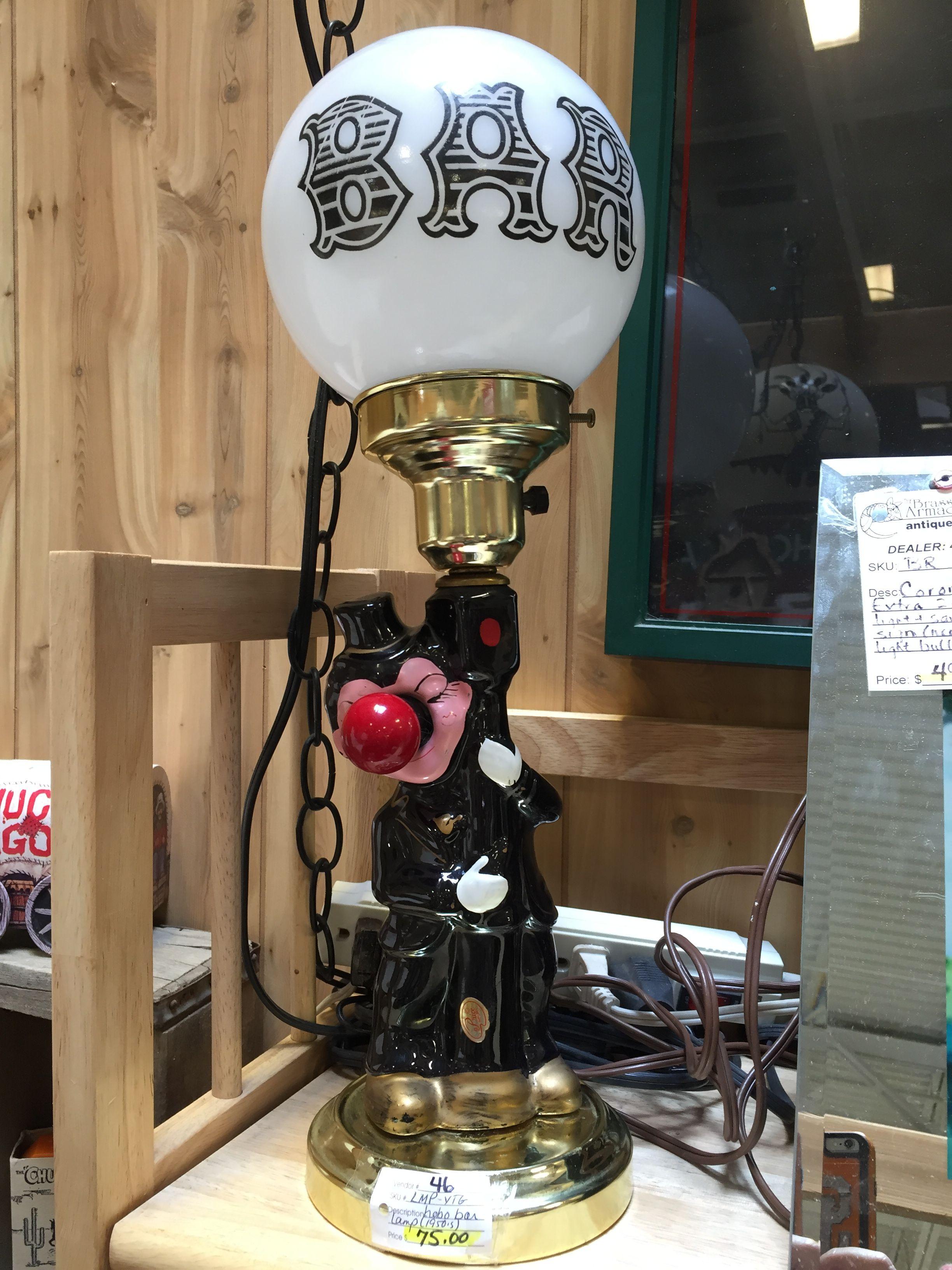 Vintage bar sign lamppost. Red nose lights up too! $75