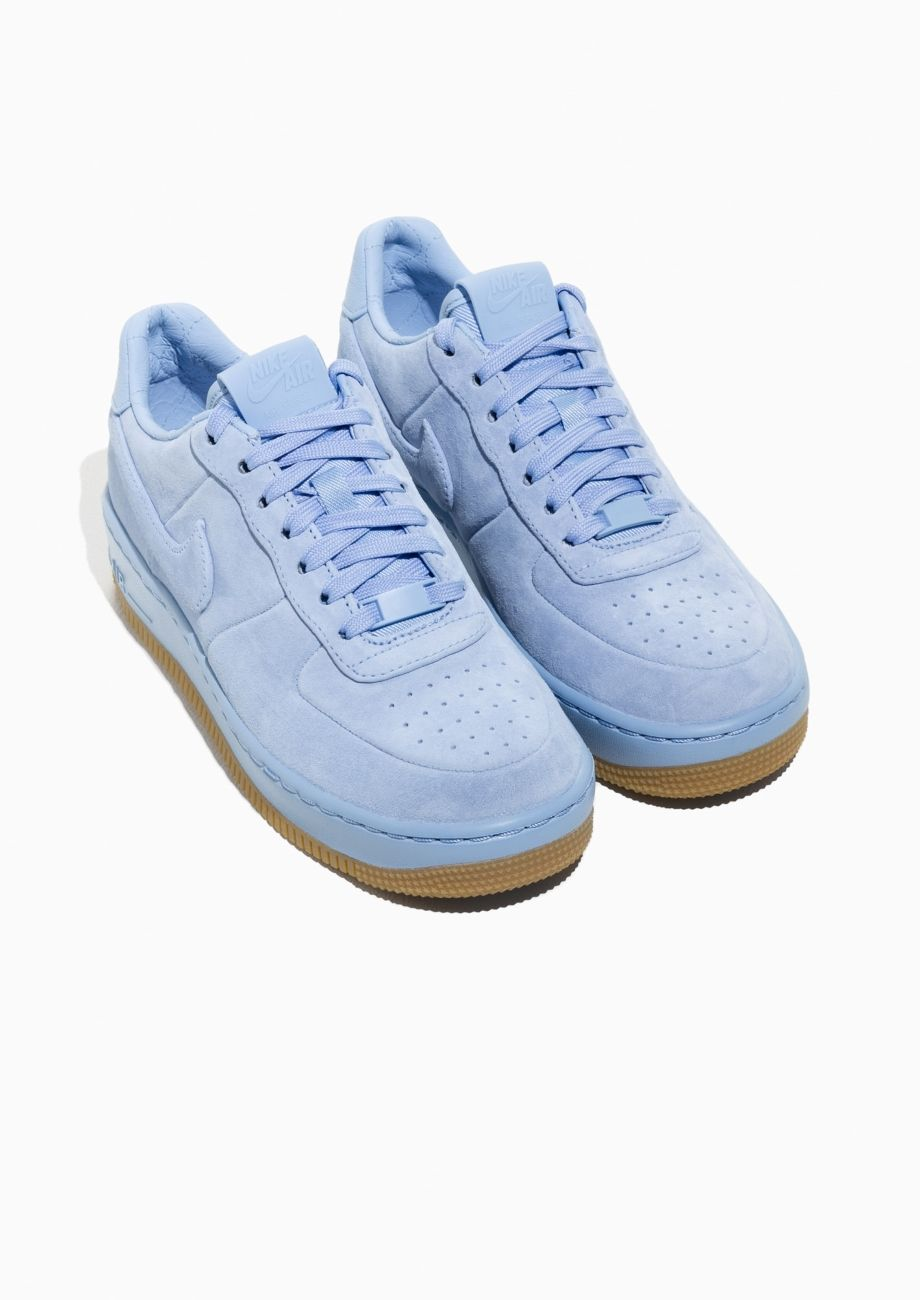 info for d406a 7b00c Other Stories image 2 of Nike Air Force 1 Upstep Suede in Blue
