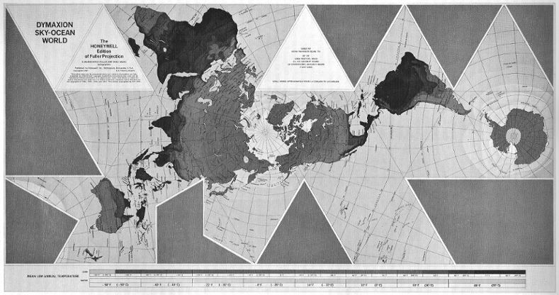 World game is an educational simulation to help create solutions to buckminster fuller wanted to reduce map distortion so he created the dymaxion projection that could be arranged in many ways and folded into a globe gumiabroncs Images