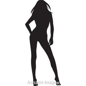 clip art of the silhouette of a sexy woman silhouette art rh pinterest com Black Girl Stick People Clip Art Black Female Art