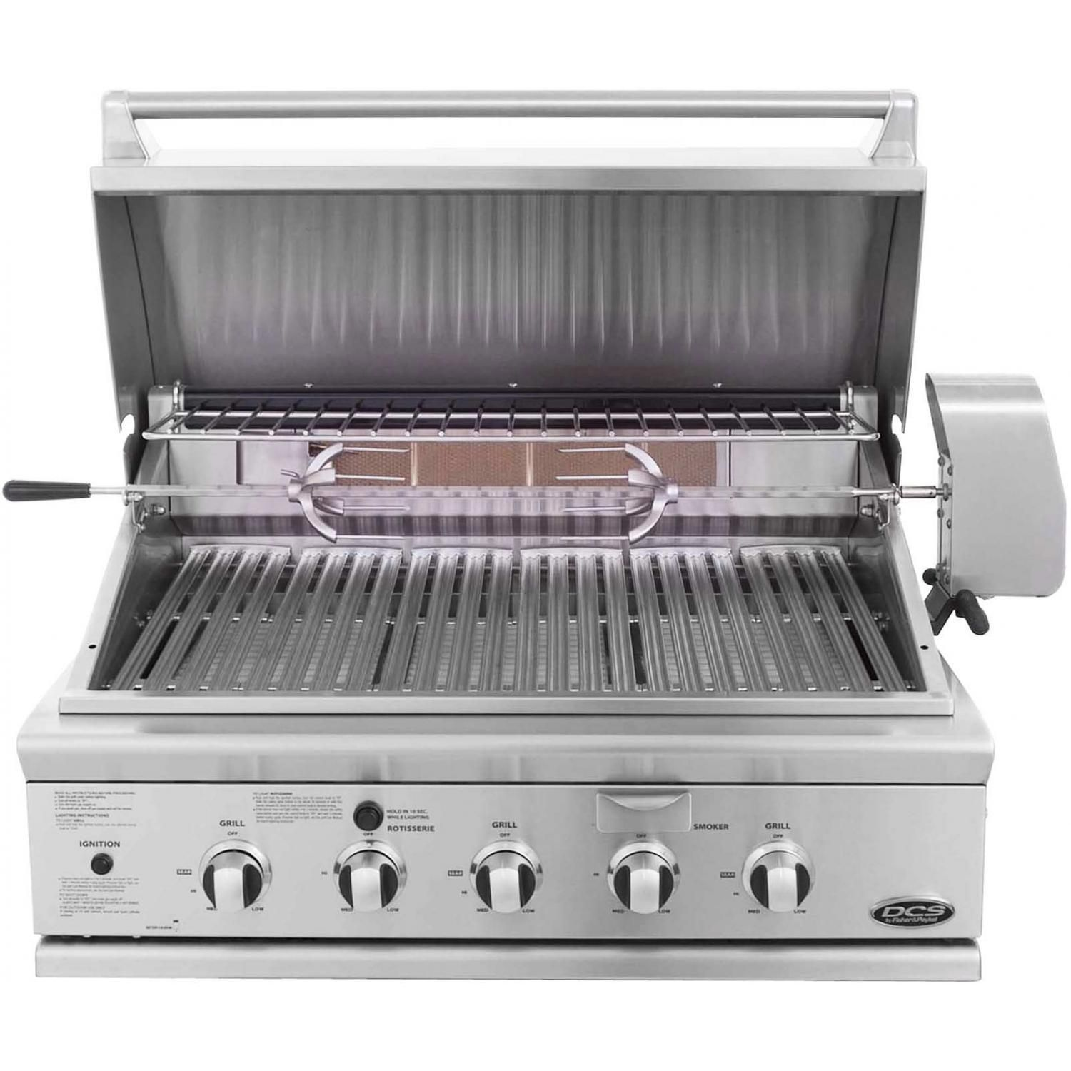 Dcs Series 7 Traditional 36 Inch Built In Natural Gas Grill With Rotisserie Bh1 36r N Parrilla