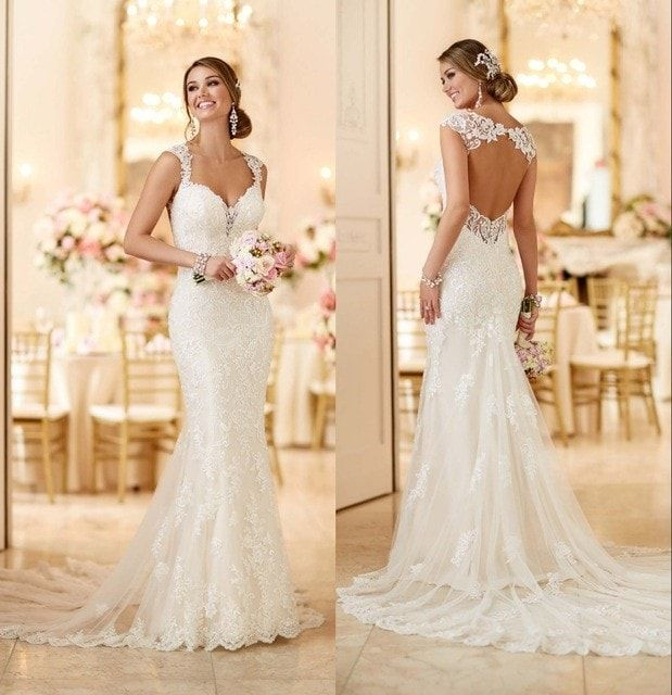 Vintage Wedding Dresses Las Vegas: 2016 Stella York Wedding Dresses With Open Back And Long