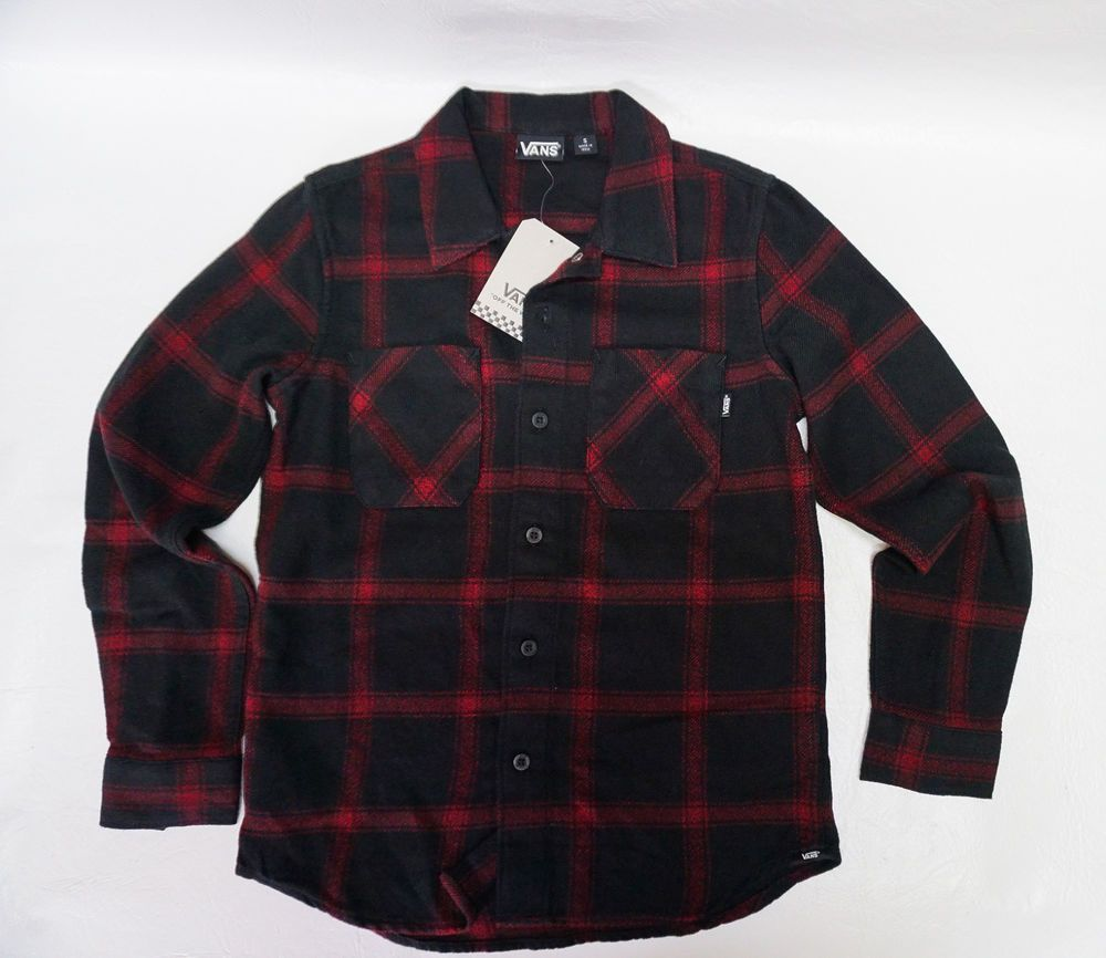94fea520e9 VANS Off The Wall boys skate DISPATCHED Flannel plaid chili pepper shirt S  L NEW  VANS  Everyday