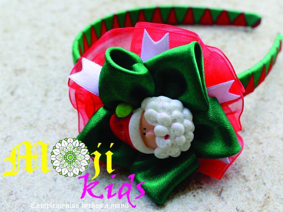 diademas con motivos navideños hechas a mano mojito kids