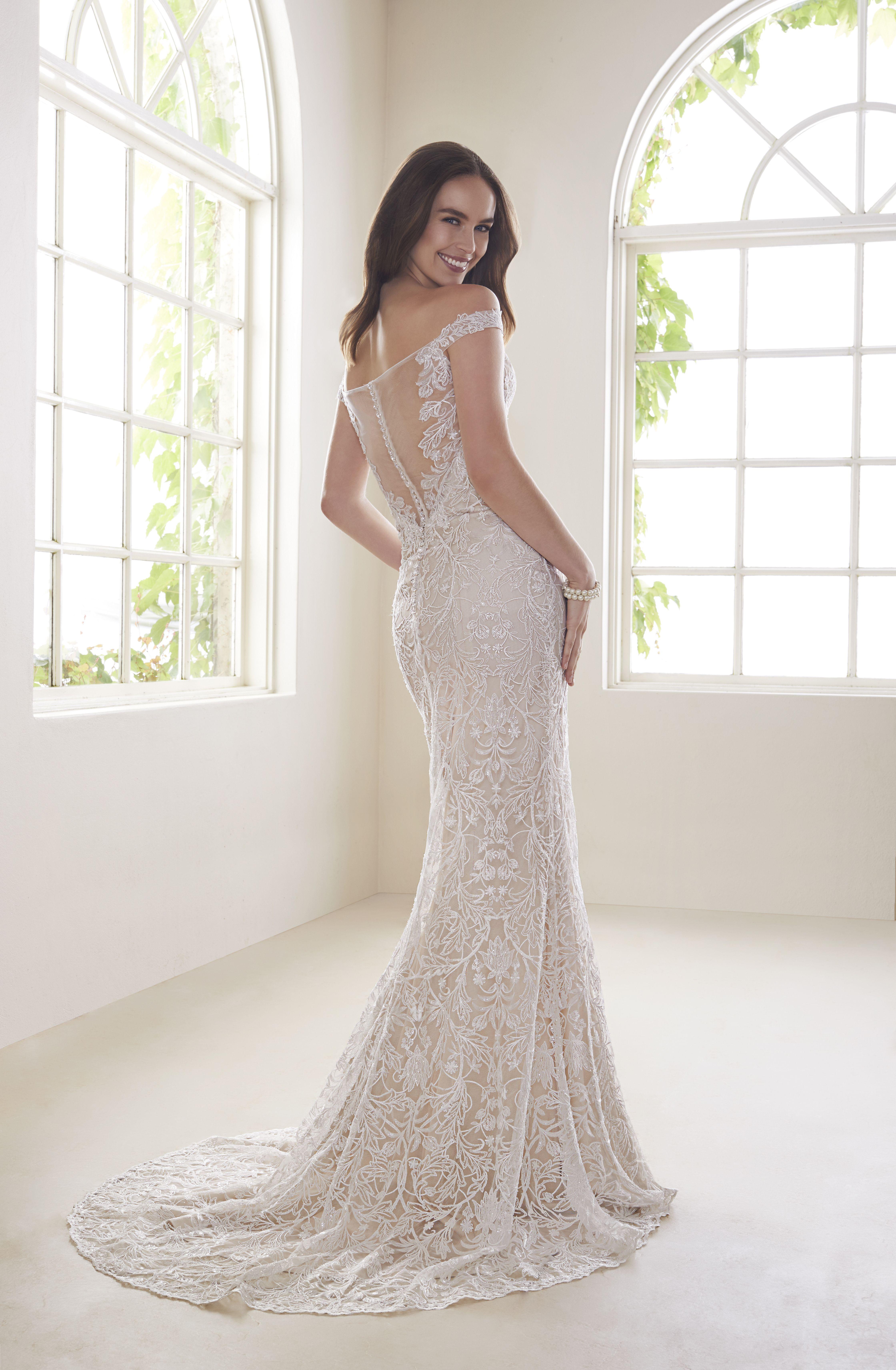 OffShoulder TwoPiece Wedding Dress Set Y21810A Diamond