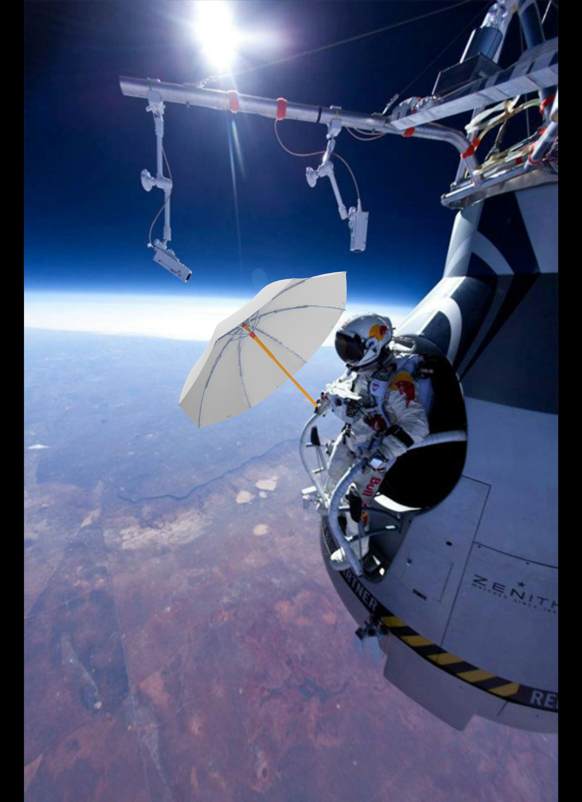 The ISS and Red bull are supporting us! :-)