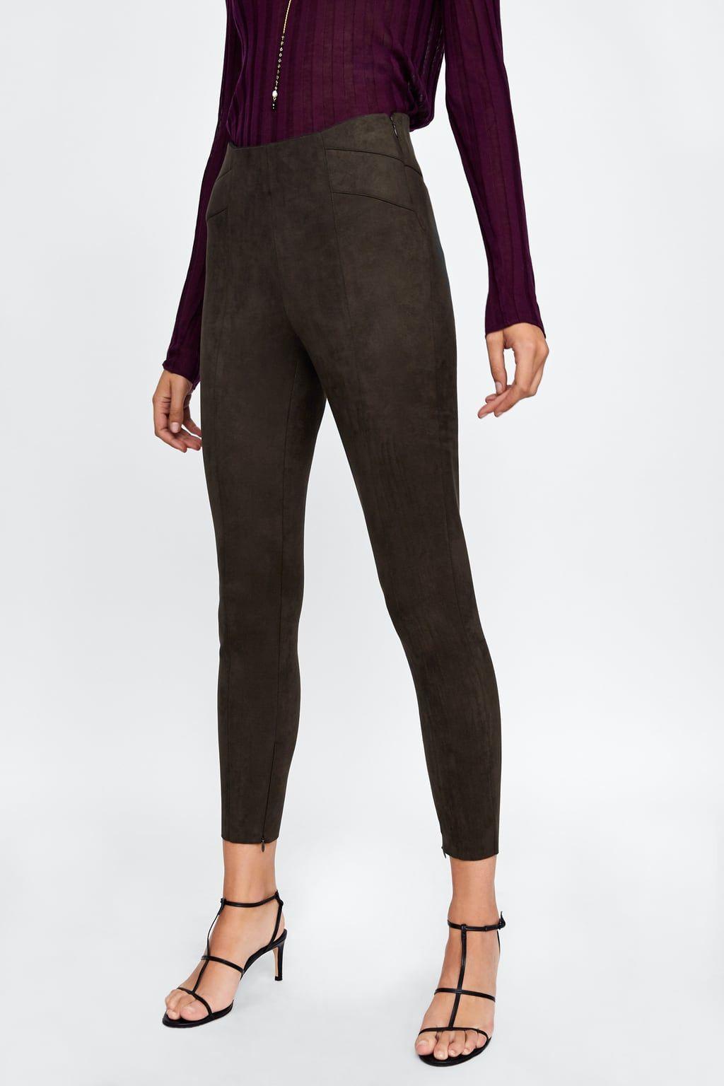 558da836 Faux suede leggings in 2019 | [wear] | Suede leggings, Faux leather ...