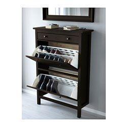 schuhschrank 2fach hemnes schwarzbraun i have a wish. Black Bedroom Furniture Sets. Home Design Ideas